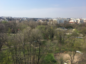View of cismigiu parc from apartment terrace