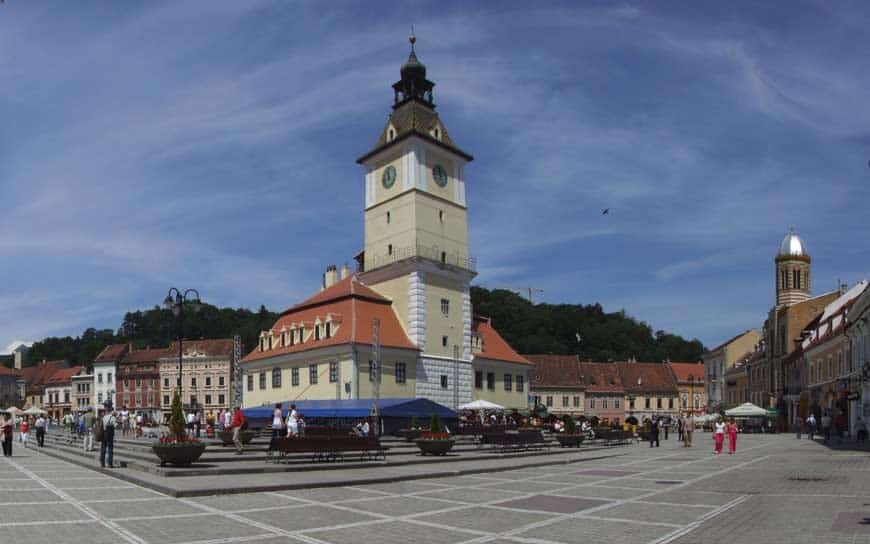 city central square in Brasov