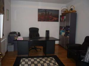 home office with table and chair