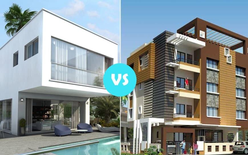 Modern House Vs Apartment Building